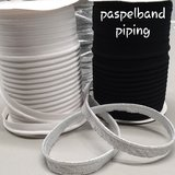 rol 25mtr - wit katoen paspelband - piping 1cm_