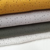 confetti hydrofiel off white army licht grijs en oker