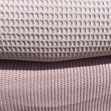 licht oud roze big knit met bijpassende wafelkatoen