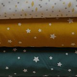 saffier en oker sterren met wieberstipjes