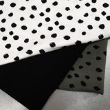 painted dots army off white en zwarte tricot