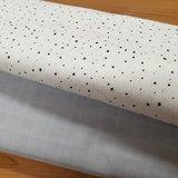 confetti wit zwart met uni hydrofiel licht grijs