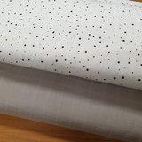 confetti wit zwart met uni hydrofiel taupe