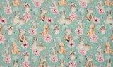 licht blauw roze terracotta hertjes vosjes beertjes konijntjes en uiltjes digitaal - tricot_
