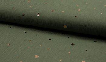 army groen rose gouden confetti hydrofiel