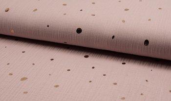 oud roze (licht) rose gouden confetti hydrofiel