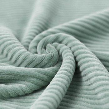 vintage mint katoenen ribfluweel tricot
