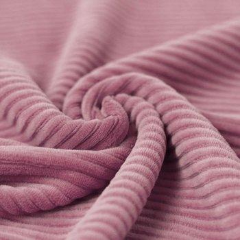 oud roze katoenen ribfluweel tricot