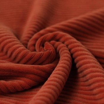 terracotta katoenen ribfluweel tricot