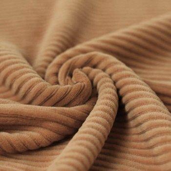 camel katoenen ribfluweel tricot