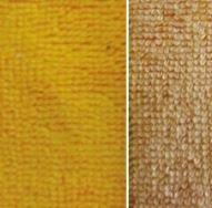 geel (oker) bamboe katoen fleece