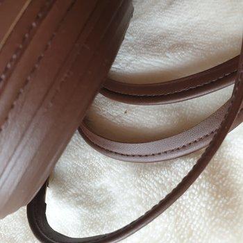 cognac bruin leren paspelband - piping 1cm