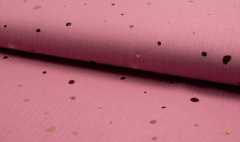 oud roze rose gouden confetti hydrofiel