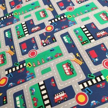blauw groen grijs rood geel gekleurde wegenstof - stratenstof