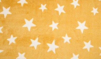 geel mosterd/oker wit sterren Knuffel fleece (op=op)