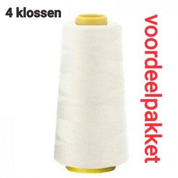 4x klos wit (ecru - off white) lockgaren - 111