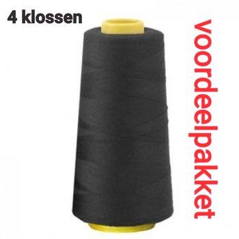 zwart lockgaren - 000 - 4x klos
