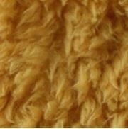 geel (oker) fluffie teddy dubbelzijdig