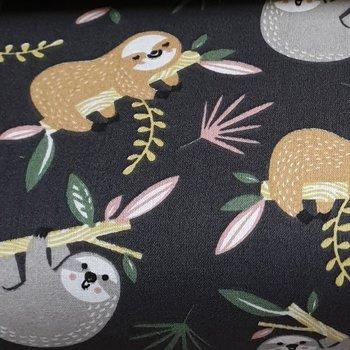 grijs terracotta geel (soft) army luiaard diertjes - tricot (op=op)