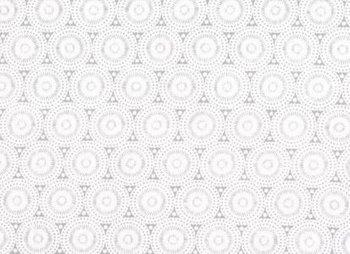 wit broderie katoenen voile retro rondjes