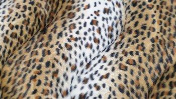 cognac bruin beige zwart luipaard klein - kortharig (op=op)