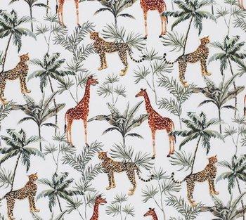 wit (off white) groen cognac palmboom luipaard giraf botanisch jungle digitaal