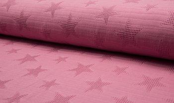 oud roze wafel jacquard ster