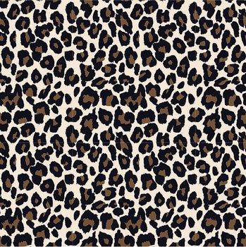 beige (kiezel) zwart luipaard - tricot