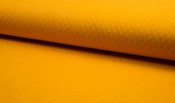 geel (oker) wafeltjes gevoerde tricot