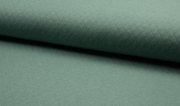 groen (saffier) wafeltjes gevoerde tricot