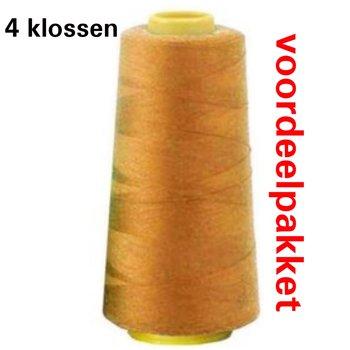 geel mosterd/oker lockgaren - 141 - 4 x klos