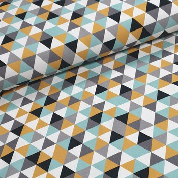 mint - geel - wit - zwart - grijs triangelmix groot - tricot