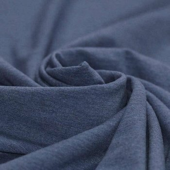 jeans blauw melee uni - tricot