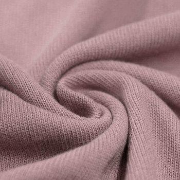 oud roze (licht) baby katoen fijn gebreide stof