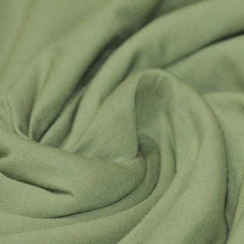 groen (olijf) uni - tricot