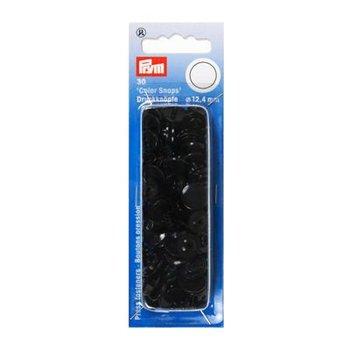 zwart kam snaps 12.4mm - 30 stuks