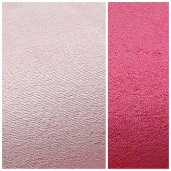 licht roze (&fuchsia) bamboe dubbelzijdig katoen fleece