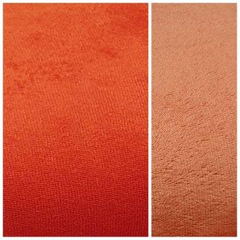 rood (&koraal) bamboe dubbelzijdig katoen fleece