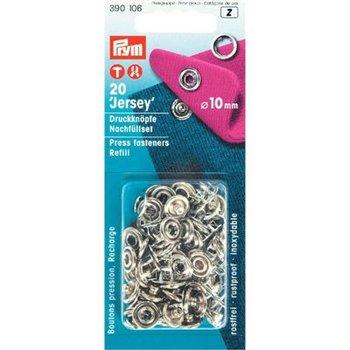 zilver drukknopen navulling - drukkertjes 10mm - 20 stuks