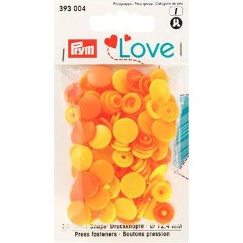 geel oker oranje assortie kam snaps 12.4mm - 30 stuks