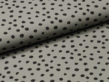army groen zwart painted dots - tricot