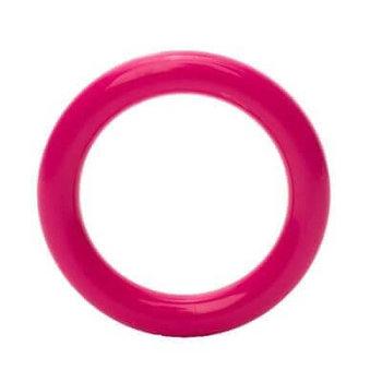fuchsia roze plastic ring 4cm - 5 stuks