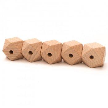 houten hexagon kraal 2cm - 5 kralen