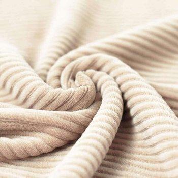 wit (natural) katoenen ribfluweel tricot