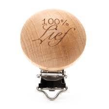 houten speenclip 100% Lief 2 stuks
