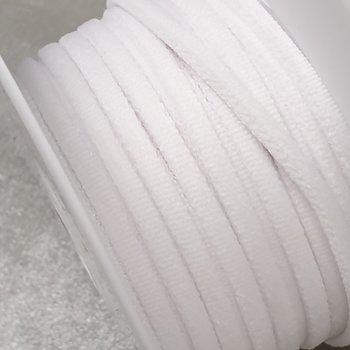 wit zachte band elastiek 4mm - 25 meter / rol