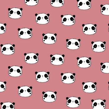 oud roze wit zwart panda flanel