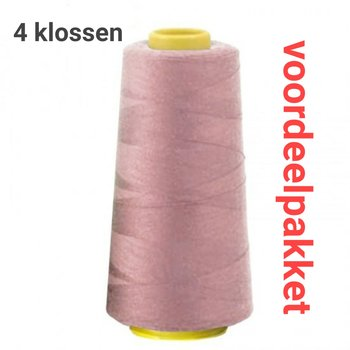 oud roze lockgaren - 554- 4x klos