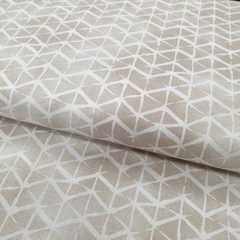 beige (kiezel) met wit geometrische lijnen