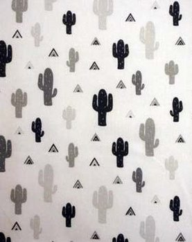 wit zwart & grijs kaktus